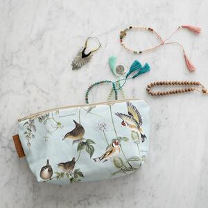 COSMETIC BAG - Birds of the garden (with bottom) preorder
