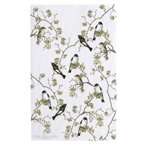 ORGANIC TEA TOWEL - Pied Flycatcher - PRE-ORDER NOW