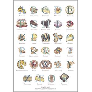 THE CAKE ABC - Poster A2 (Danish Alphabet)