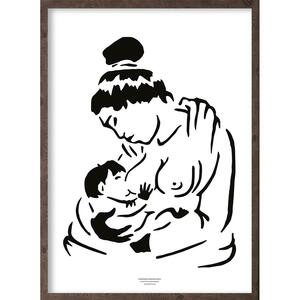 Anaana (black-white) - ART PRINT - CHOOSE SIZE