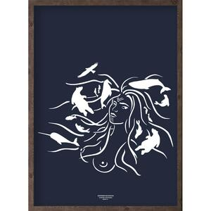 Mother of the sea (arctic dark blue) - ART PRINT - CHOOSE SIZE