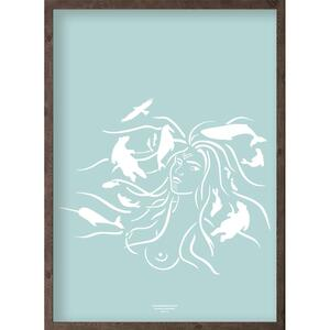 Mother of the sea (arctic ice blue) - ART PRINT - CHOOSE SIZE