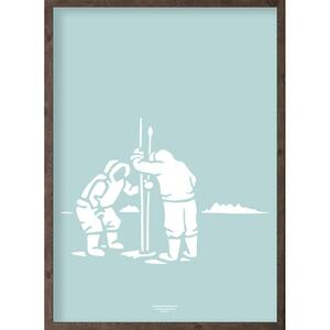 Inuit (arctic ice blue) - ART PRINT - CHOOSE SIZE