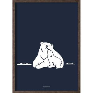 Nanoq (arctic dark blue) - ART PRINT - CHOOSE SIZE