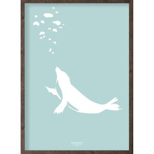 Puisi (arctic ice blue) - ART PRINT - CHOOSE SIZE